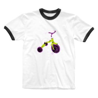 三輪車 Ringer T-shirts