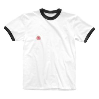 ちくT Ringer T-shirts