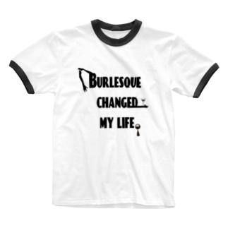 BCML ブラックプリント Ringer T-shirts