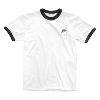 デッキ〜のクロワッサン焼けます。 Ringer T-shirts