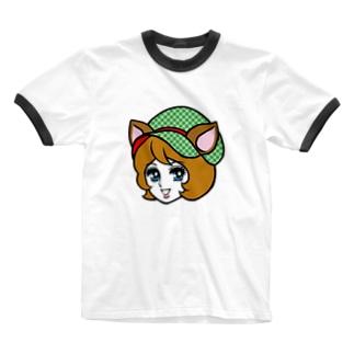 しかガール Ringer T-shirts
