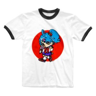ちょうしのり系女子高生 Ringer T-shirts