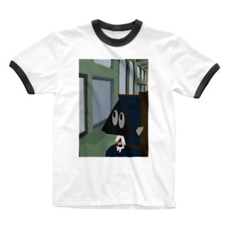 伊賀越え Ringer T-shirts