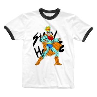 STAYHOME HANDWASHマン Ringer T-shirts