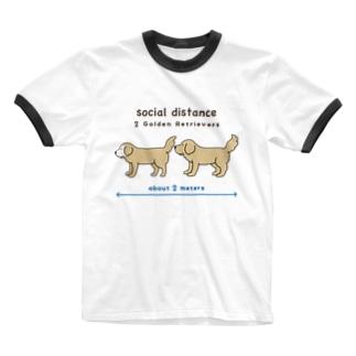 efrinmanのソーシャルディスタンス Ringer T-shirts