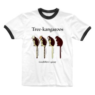 キノボリカンガルー Ringer T-Shirt