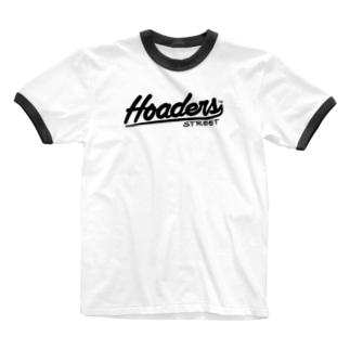 Hoaders Streetロゴ Ringer T-shirts