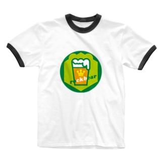 原田専門家のパ紋No.3357 rockbear  Ringer T-shirts
