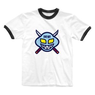 パ紋No.3358 阿部  Ringer T-shirts