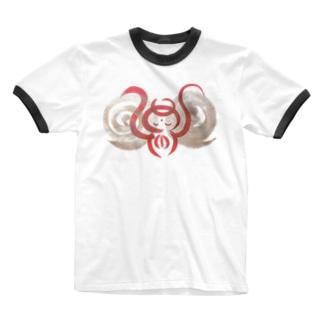 🍀森葉子グッズ🍀のお守り絵「ほっとけさん」透過1 Ringer T-shirts