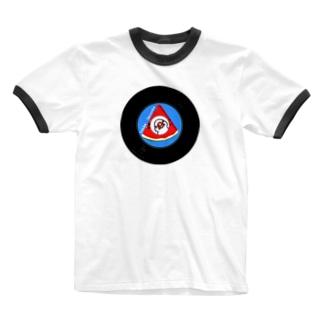 すいかレコード白文鳥 Ringer T-shirts
