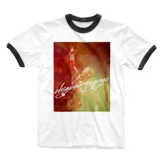 長与千種の『赤いイナズマ』 Ringer T-shirts