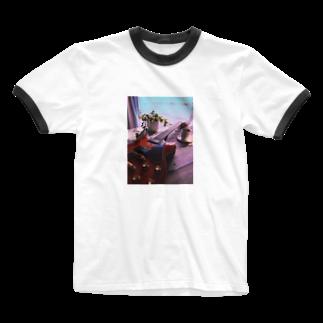 TK-marketのギター Tシャツ Ringer T-shirts