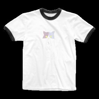 おもち屋さんのおすまし猫(2) Ringer T-shirts