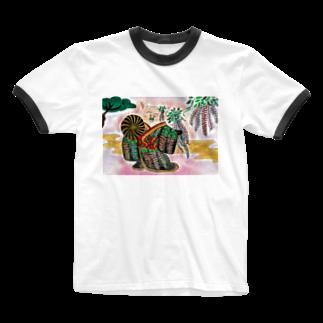 花と雲の藤娘ドロシー 歌舞伎 Ringer T-shirts