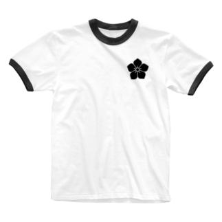明智家の家紋(桔梗) Ringer T-Shirt