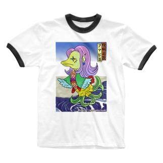 あまびえアートチャレンジ@牧山直樹 Ringer T-shirts