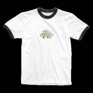 Animals MatingのDogs  Mating(犬の交尾) Ringer T-shirts