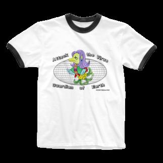 CYBERDYNEのあまびえアートチャレンジ@牧山2 Ringer T-shirts