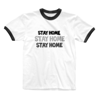 chaiのstay home Ringer T-shirts