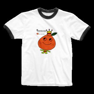 POPUP_KOBE_MARIKOのデコポン Ringer T-shirts