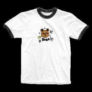 y__48のbare  Ringer T-shirts