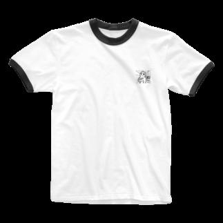 カフェイン大好き屋さんの暇だ!! Ringer T-shirts