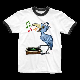 レコードの巣のハシビロコウ☆レコードプレイヤー Ringer T-shirts
