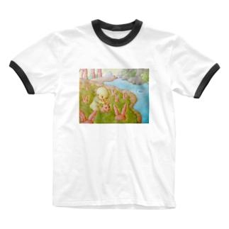 収穫 Ringer T-shirts