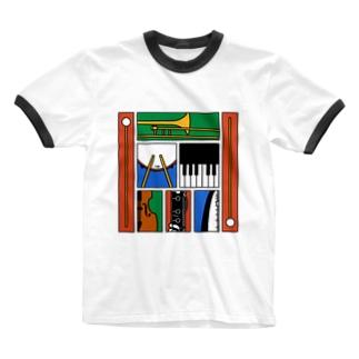 楽器 Ringer T-shirts