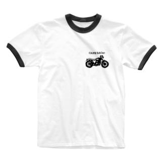 カフェレーサー大好き人 Ringer T-shirts