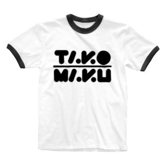 タコマクロゴ Ringer T-shirts