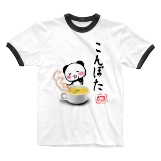 こんぽたパン Ringer T-shirts