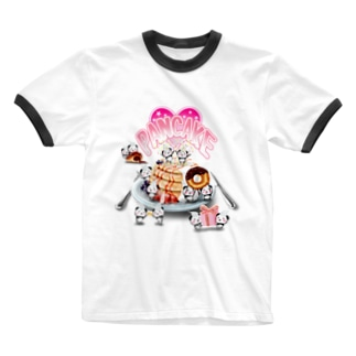 ふわふわパンケーキ Ringer T-shirts