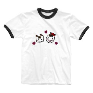 たま子とねこ Ringer T-shirts