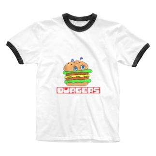 burgers  Ringer T-shirts