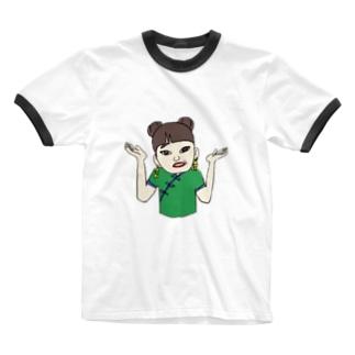 ガチエモT🍏 Ringer T-shirts