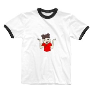 ガチエモT🍎 Ringer T-shirts