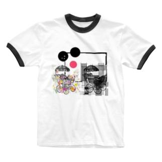 花屋。 Ringer T-shirts