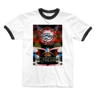 無重力尚靴履(ジューシーテロ・アーティスト) Ringer T-shirts