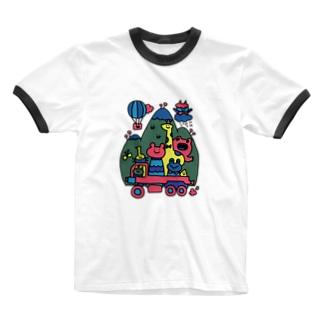 イカツイクルマ元気な色 Ringer T-shirts