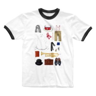 toshimaruのぼくのかけらたち Ringer T-shirts