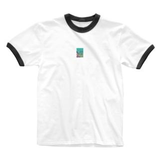 chikanjiの笑う門には福来る Ringer T-shirts