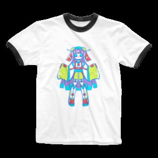 かじきのAndroid 397 Ringer T-shirts