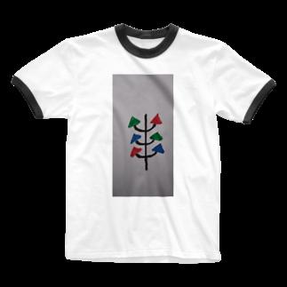 まるあるちの真面目の木 Ringer T-shirts