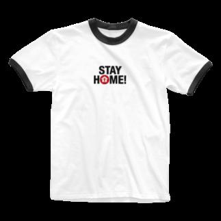 TK-marketのSTAY HOME(3) Tシャツ Ringer T-shirts