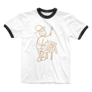 ダルシマン-pink- Ringer T-shirts