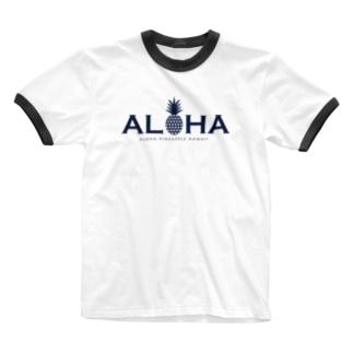 ALOHA パイナップル 030 Ringer T-shirts