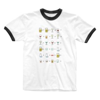 アルコール Ringer T-shirts
