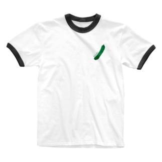 きゅうり Ringer T-shirts